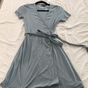 Lulus baby blue wrap dress S
